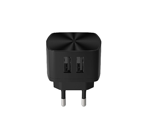 ALFALINK 2 USB CHARGER FAST CHARGING BLACK