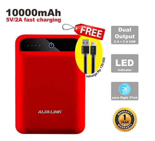 POWER BANK 10000 RC RED