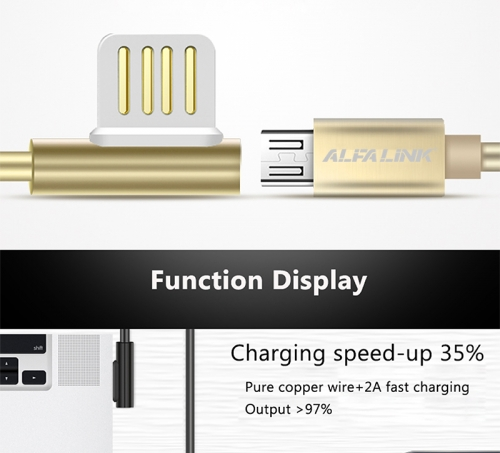 EMPEROR CABLE FOR MICRO USB GOLD