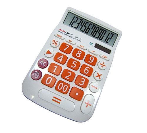 CALCULATOR CD-12F ORANGE