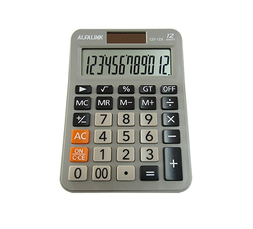 ALFA LINK CALCULATOR CD 12X GREY