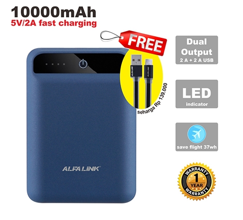 POWER BANK 10000 RC BLUE