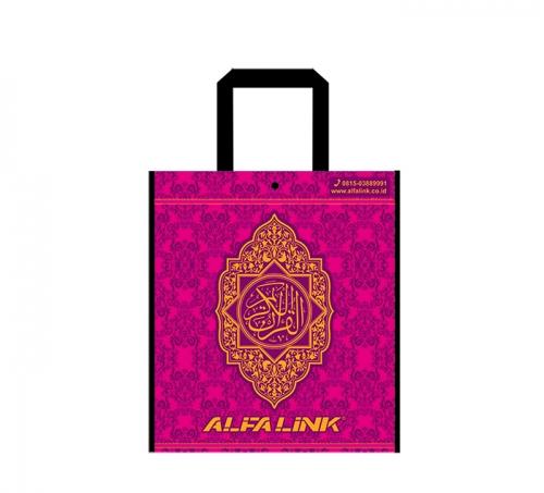ALFA LINK NON WOVEN BAG (TOTE BAG) BURGUNDY