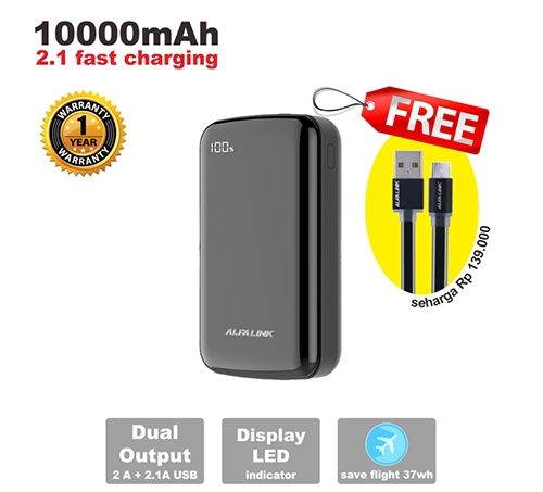 ALFA LINK Power Bank 10000 A Black
