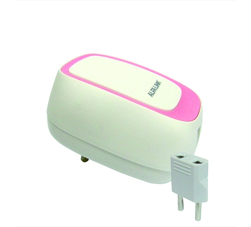 DUAL USB CHARGER (ACS-2) PINK