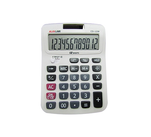 CALCULATOR CD-12W BLACK