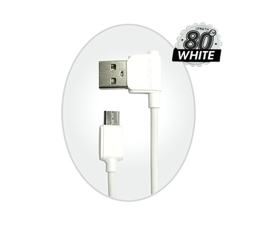ANGLE CABLE MICRO 80 CM WHITE