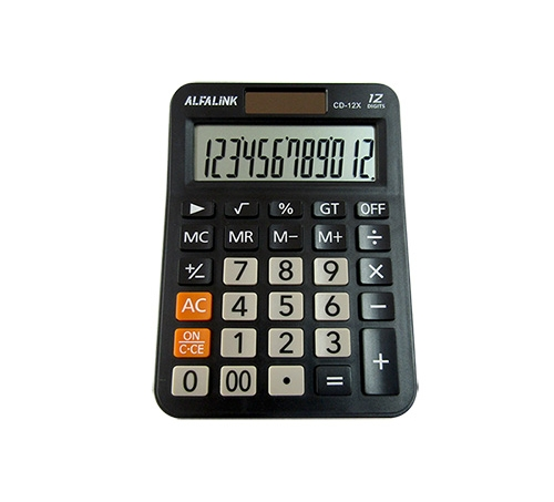 ALFA LINK CALCULATOR CD 12X BLACK