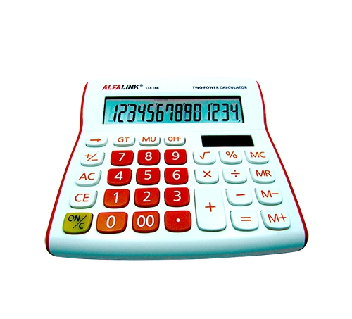 CALCULATOR CD-14B RED